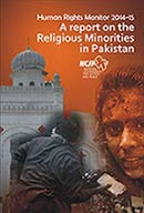 human rights monitor<br /> 2014-15 a report on the<br /> religious minorities<br /> in pakistan